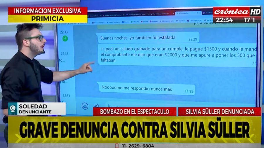 Denuncias contra Silvia Suller