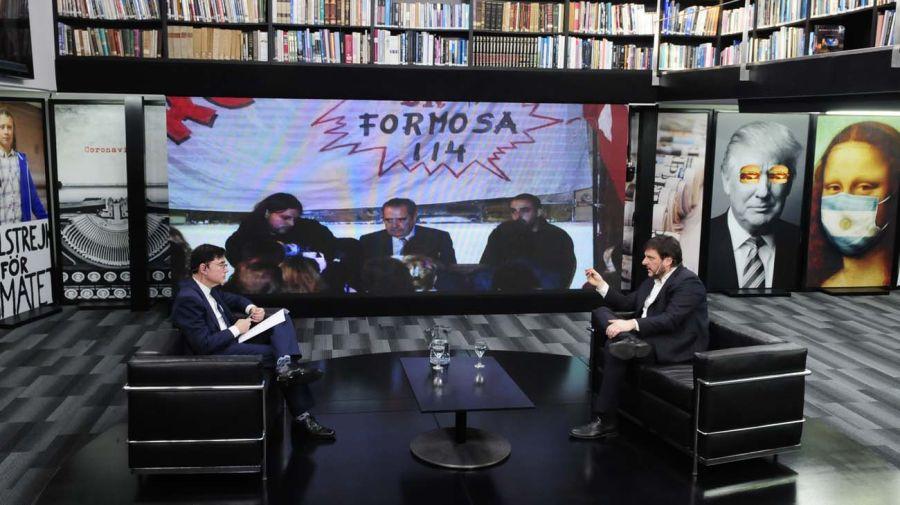 Leandro Santoro, en la entrevista con Jorge Fontevecchia.