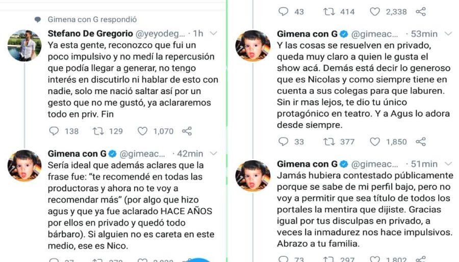 Revelan los motivos del escándalo entre Stéfano De Gregorio y Nico Vázquez