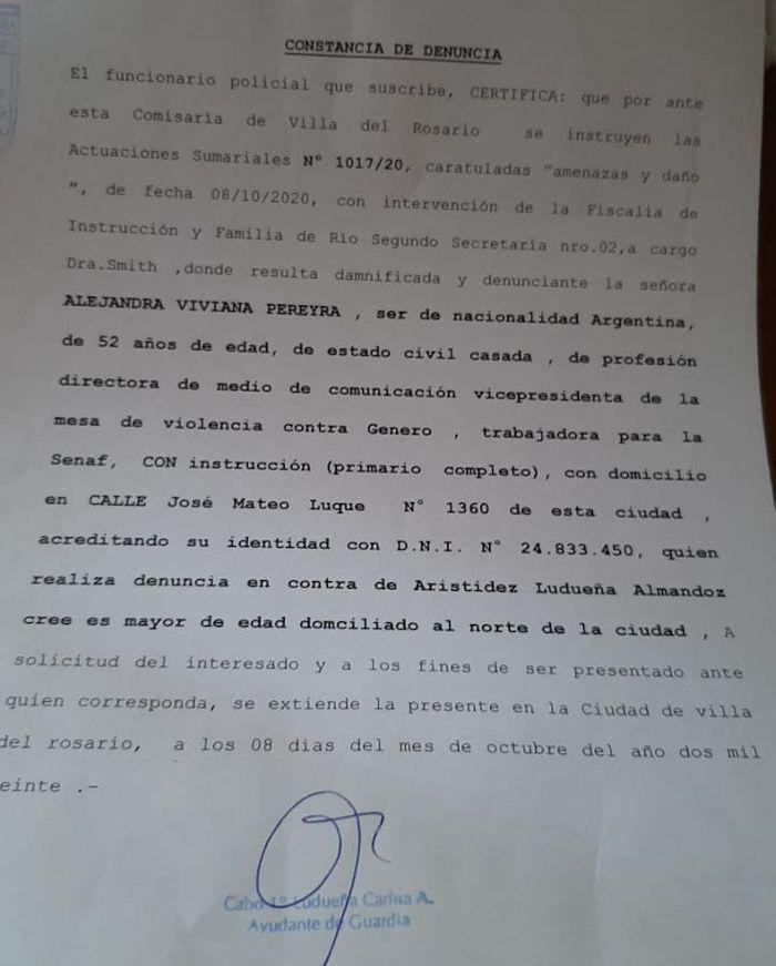 Escándalo policial en Córdoba de La Mole Moli: