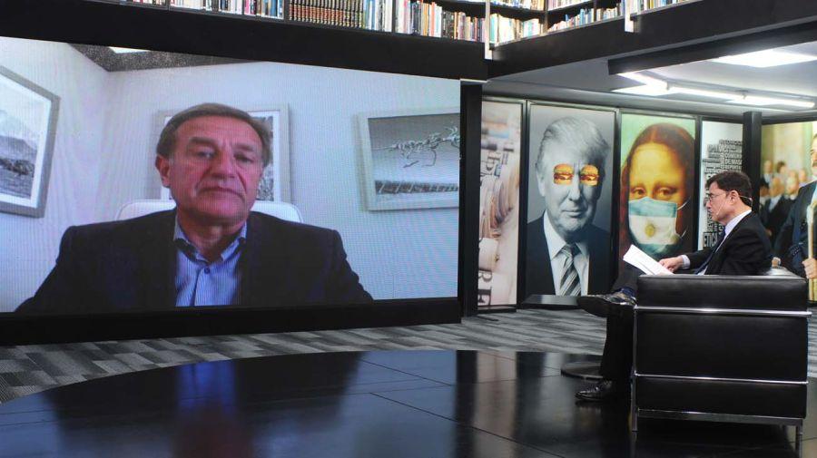 Rodolfo Suárez, en la entrevista con Jorge Fontevecchia.