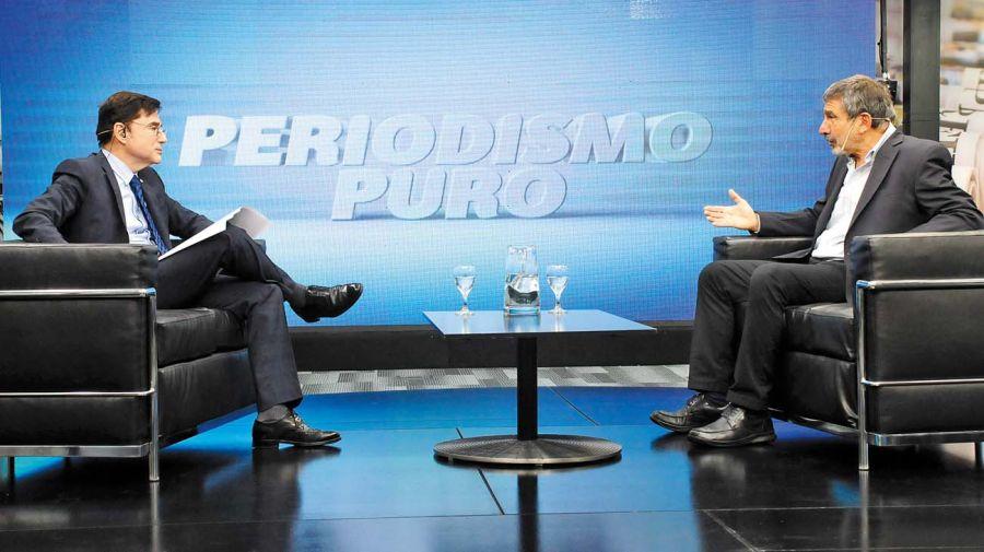 Roberto Salvarezza, en la entrevista con Jorge Fontevecchia.