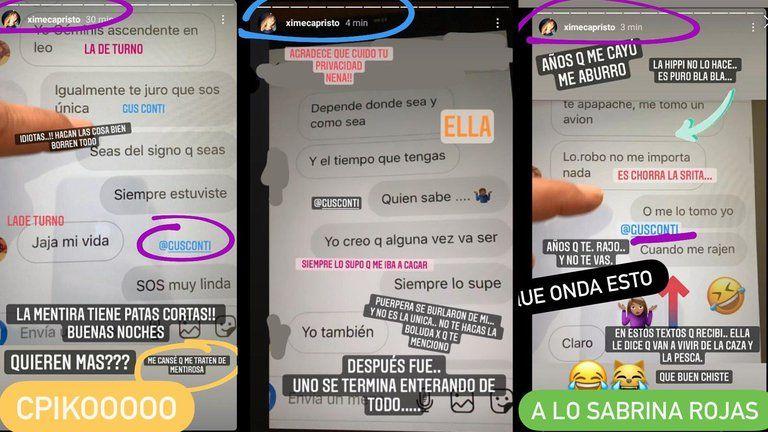 El escándalo entre Ximena Capristo y Gustavo Conti por sus chats con otra mujer
