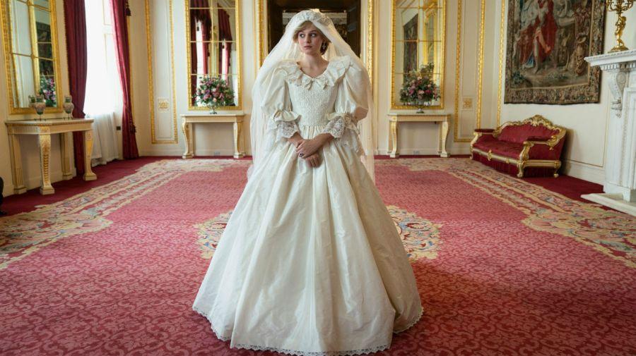 El impactante vestido de casamiento de Lady Di en The Crown