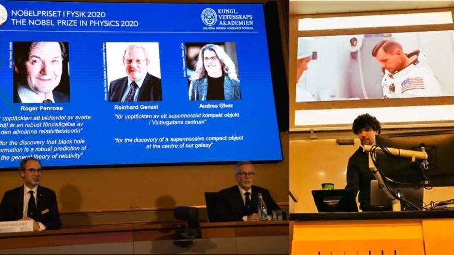 El Nobel: Navarro enseñando en Canadá. El anuncio del Nobel de física a tres estudiosos de los agujeros negros como él.