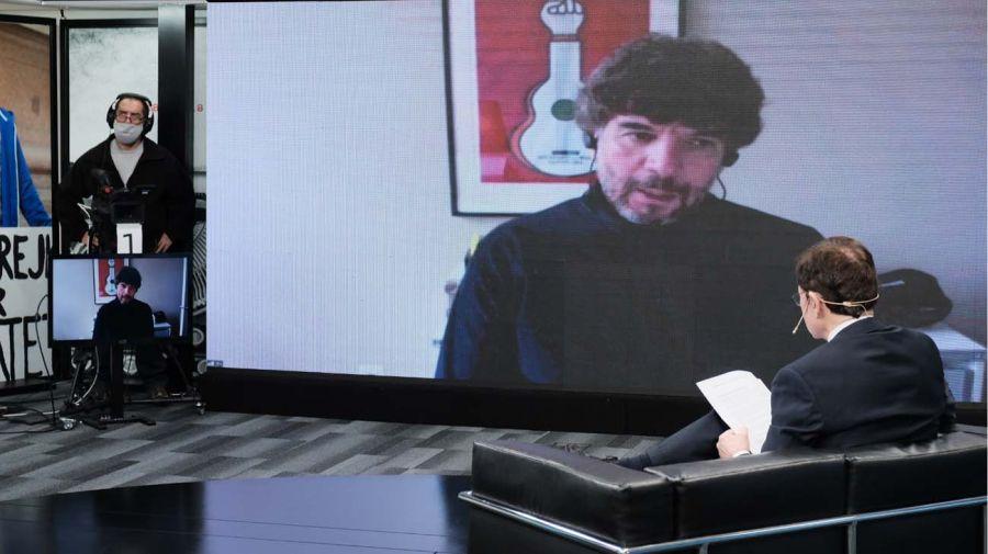 Julio Navarro, en la entrevista con Jorge Fontevecchia.
