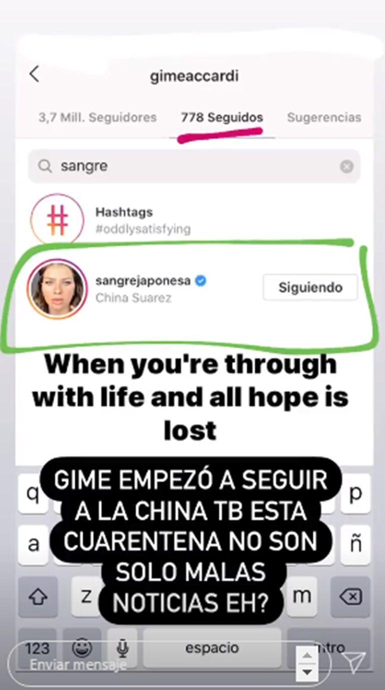 Sorpresivo gesto de Gimena Accardi hacia la China Suárez tras su fuerte distanciamiento