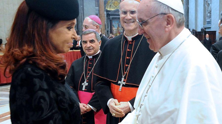 Kircher y Fernández con Bergoglio y Francisco 20201023