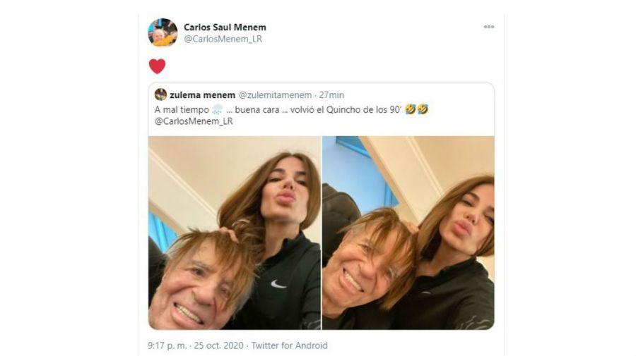 Zulema y Carlos Menem