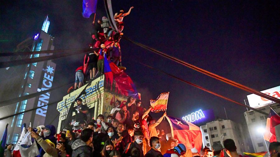 chile celebrations constitutional referendum