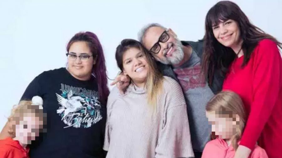 Rocio Rial, Morena Ria,l Jorge Rial y Romina Pereiro