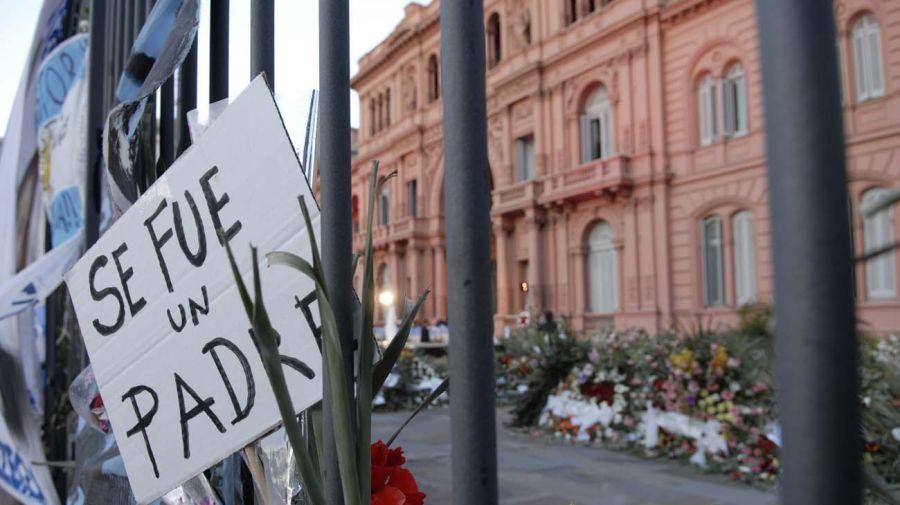Casa Rosada durante la despedida de Néstor Kirchner.