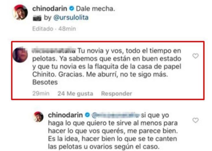 El desnudo del Chino Darín con picante cruce: