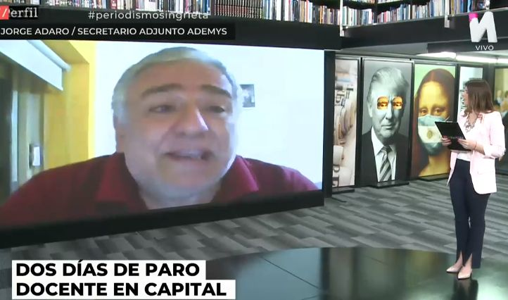 Entrevista a Jorge Adaro sobre paro docente