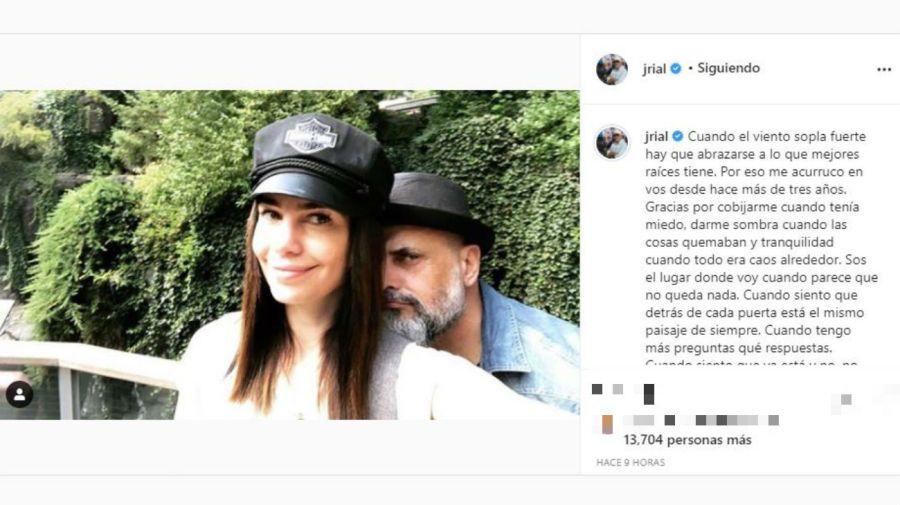 Mensaje e Jorge Rial a Romina Pereiro