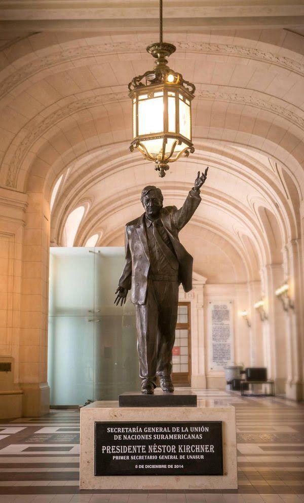 Estatua Néstor Kirchner.