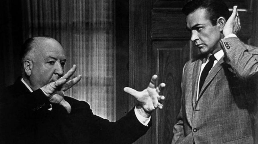 Alfred Hitchcock y Sean Connery