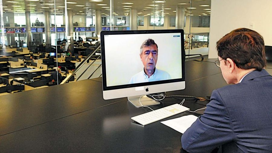 Éric Cames, en la entrevista con Jorge Fontevecchia.