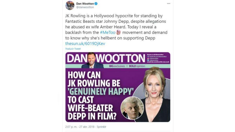 Dan Woottoon - The Sun- Johnny Depp