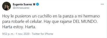 La China Suárez denunció otro asalto