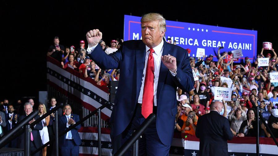 Elecciones en Estados Unidos. Baile de Donald Trump.