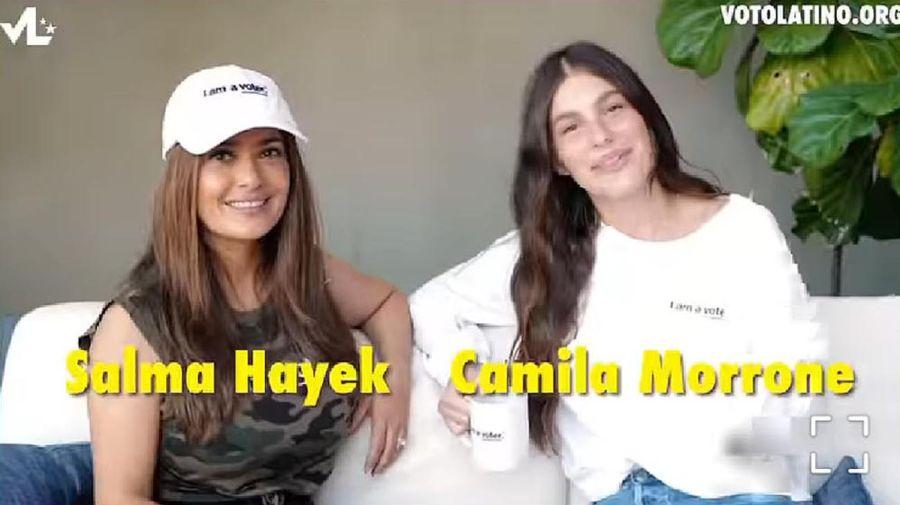 Camila Morrone y Salma Hayek sobre la importancia del voto latino en Estados Unidos