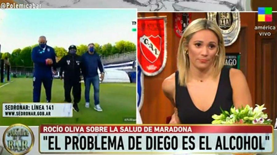 Rocio Oliva habló del problema de Diego Maradona con el alcohol
