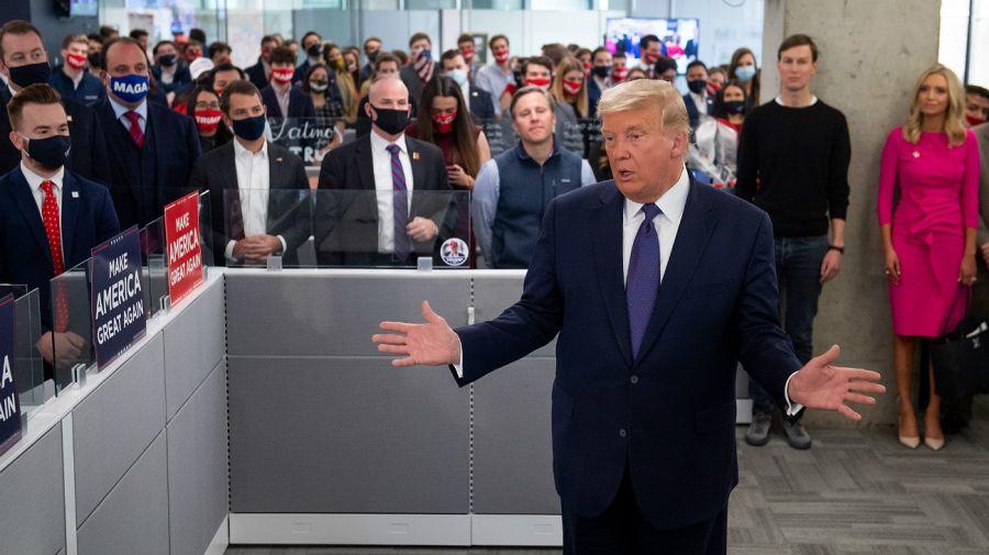 Trump se mostró optimismo en la previa al cierre de los comicios presenciales.