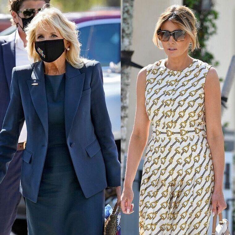 Elecciones en Estados Unidos: Melania Trump y Jill Biden, la última batalla chic