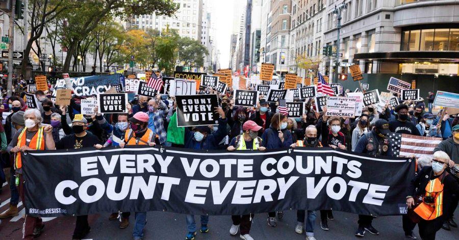 Protestas de Demócratas en Nueva York