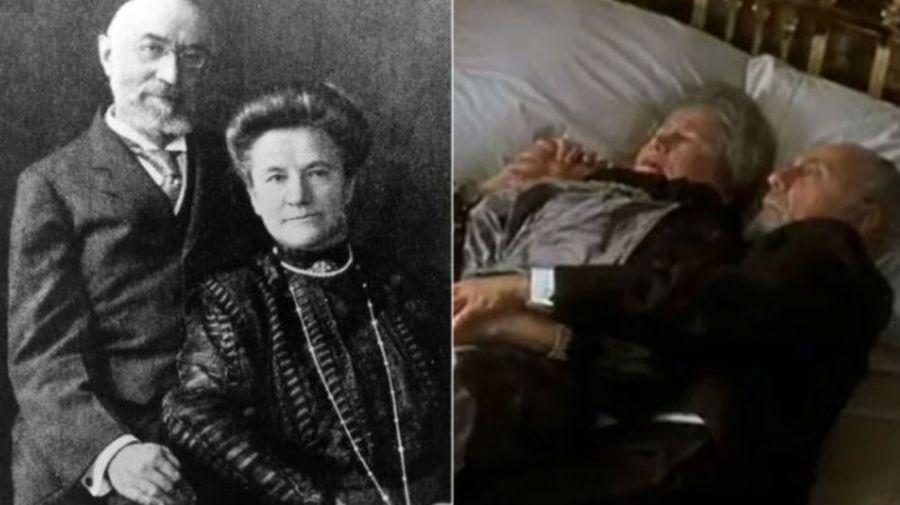 Isidor Straus y su esposa / Lew Palter y Elsa Raven en Titanic