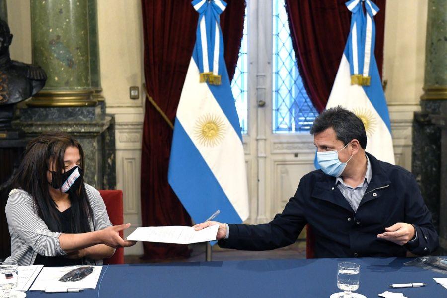 Luz Aimé junto a Sergio Massa, el Presidente de la Cámara de Diputados