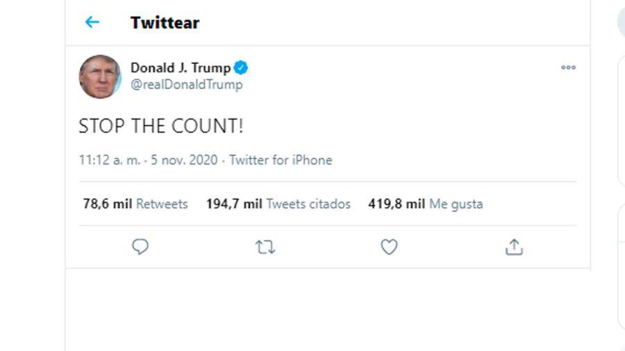 Trump Tweet 20201105