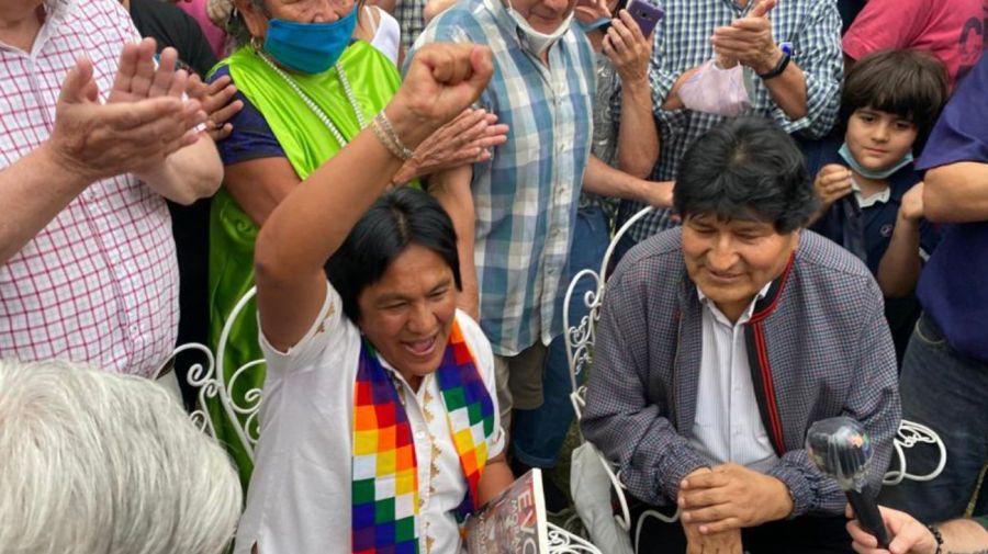 Evo Morales y Milagros Sala