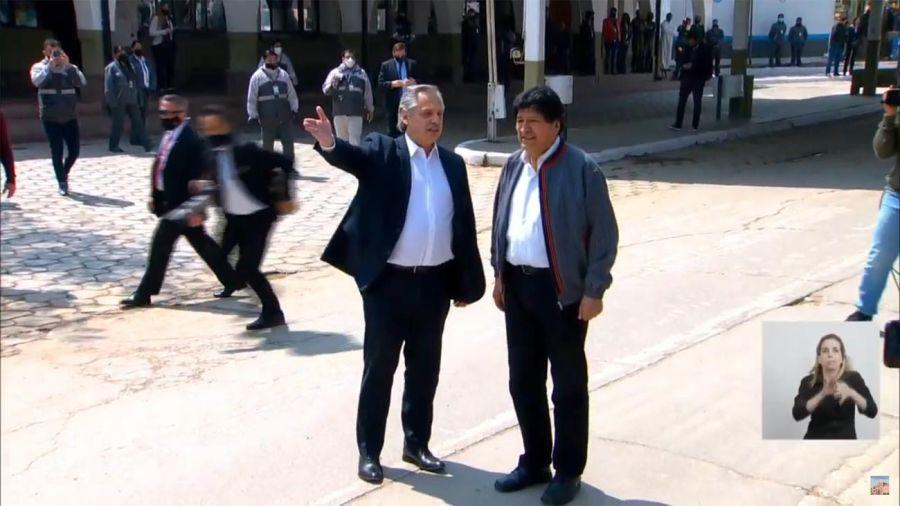 Alberto y Evo en la Quiaca 20201109