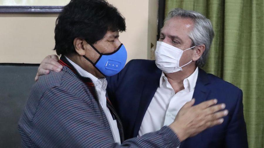 Evo Morales y Alberto Fernández 20201109