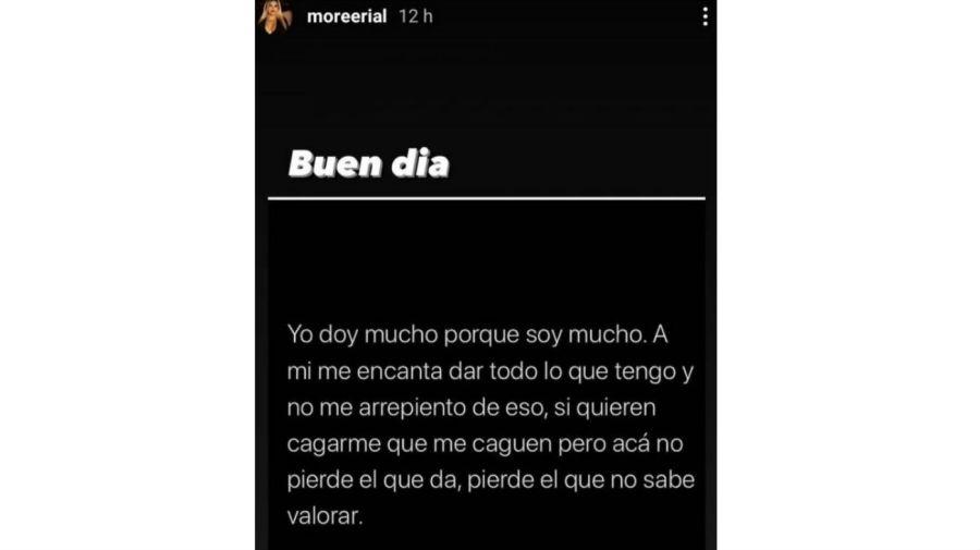Mensaje de Morena Rial