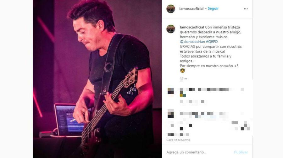 El mensaje de La Mosca sobre la muerte de Adrián Cionco