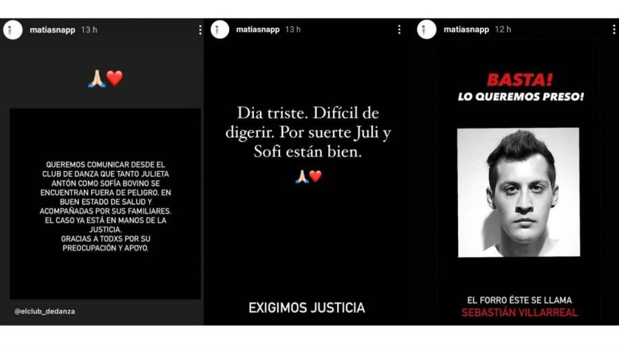 Mati Napp y su mensaje por Julieta Antón y Sofía Bovino