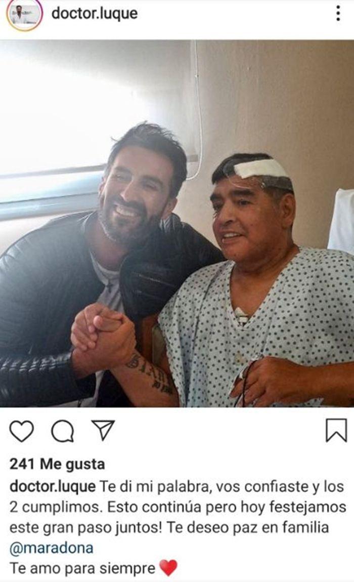 El enojo de Dalma Maradona por la foto que publicó el médico de Diego: