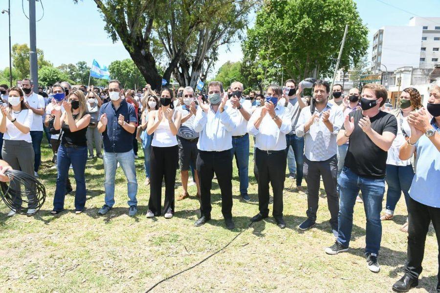 Ritondo en El Palomar protesta