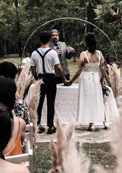 Así fue el íntimo casamiento de Juana Repetto y Sebastián Graviotto