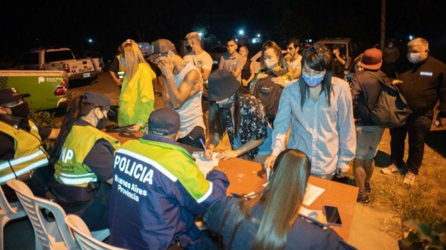 Fiesta clandestina en Virrey del Pino