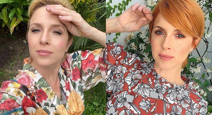 Carla Peterson impactó con un radical y colorido cambio de look