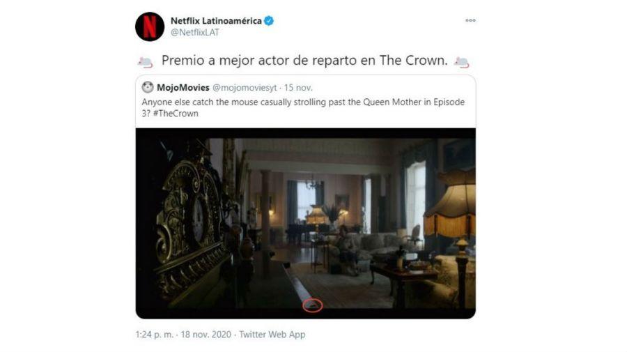 Respuesta de Netflix por la rata en The Crown