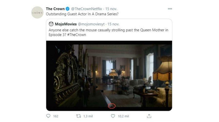 Respuesta desde The Crown por la rata