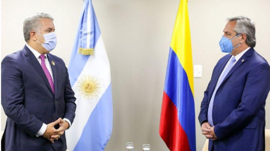 Ivan duque alberto fernandez reunion Bolivia 20201119