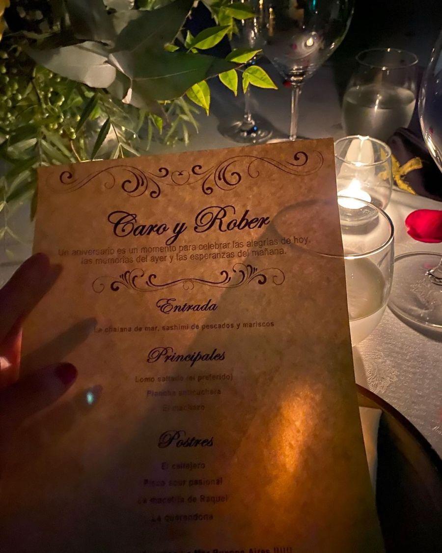 Así celebraron Pampita y Roberto García Moritán su primer aniversario