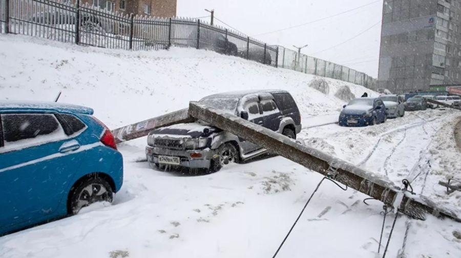 Ciclón y lluvia helada en Rusia 3