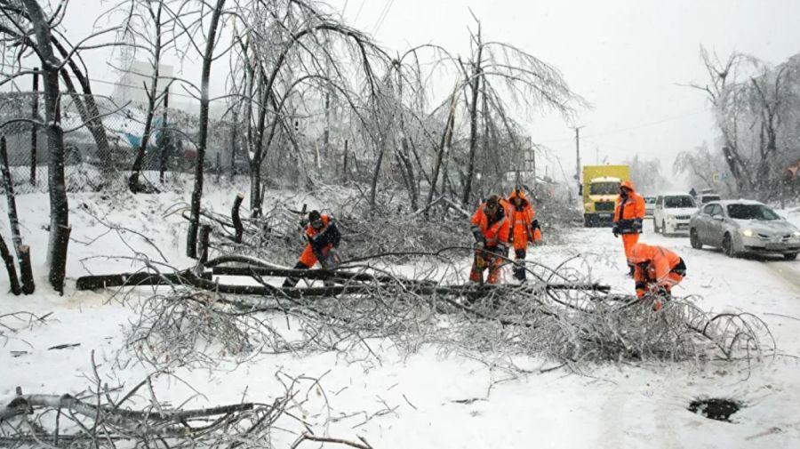 Ciclón y lluvia helada en Rusia 4